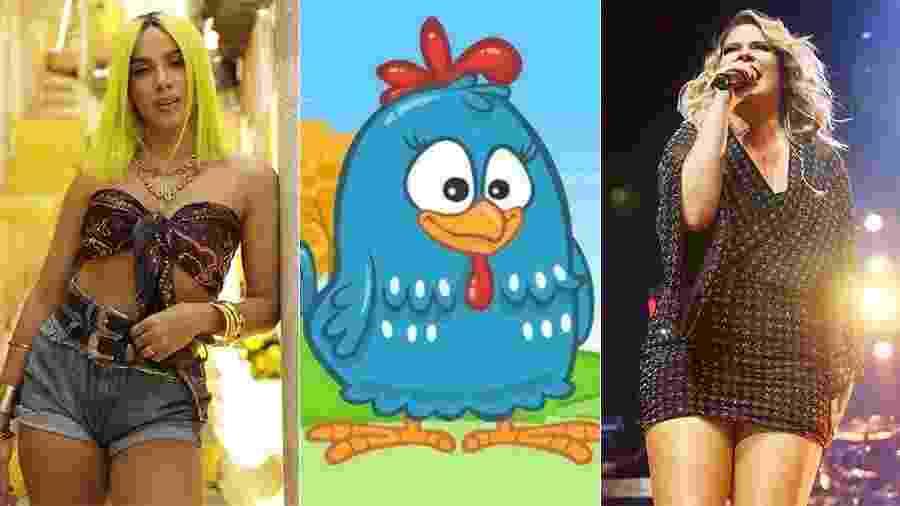 Anitta, Galinha Pintadinha e Marília Mendonça, as artistas mais populares do Brasil - Montagem UOL/Reprodução, Manuela Scarpa/Brazil News