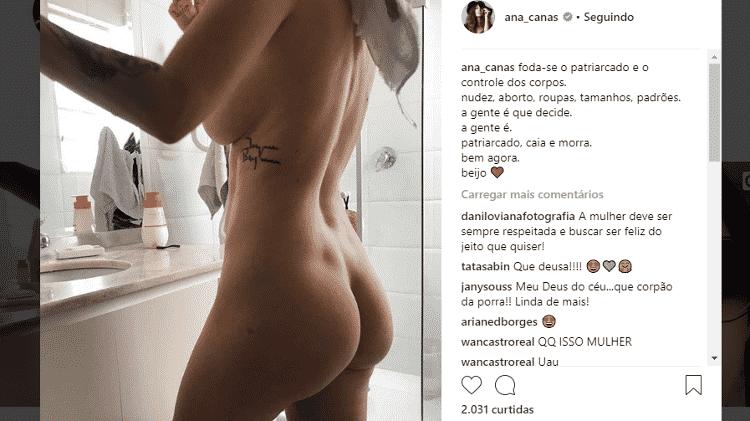 Ana Cañas posa nua - Reprodução/Instagram - Reprodução/Instagram