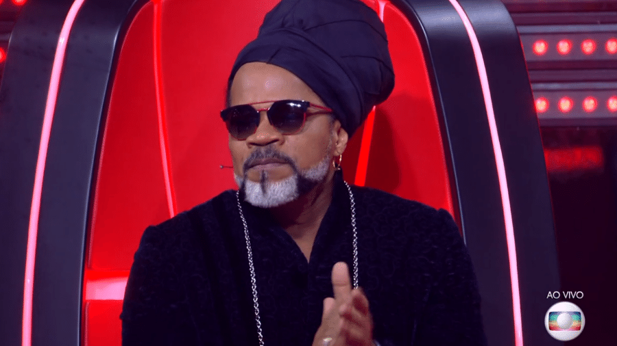 "Carlinhos Brown no ""The Voice Brasil"" - Reprodução/TV Globo"