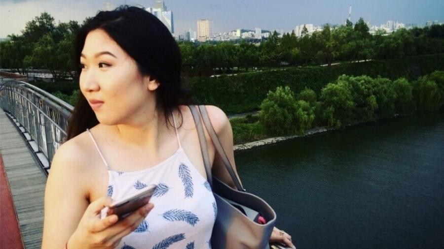 Seoyeon Lee, de 21 anos, perseguida por membros da igreja Grace Road - BBC/Seoyeon Lee
