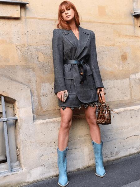 0f14347c8 Em Paris, Marina Ruy Barbosa veste look de grife de luxo de quase R$ 35 mil
