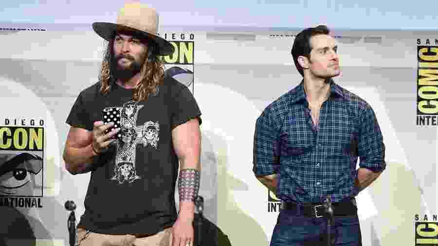 Jason Momoa e Henry Cavill na Comic Con de San Diego em 2016 - Kevin Winter/Getty Images