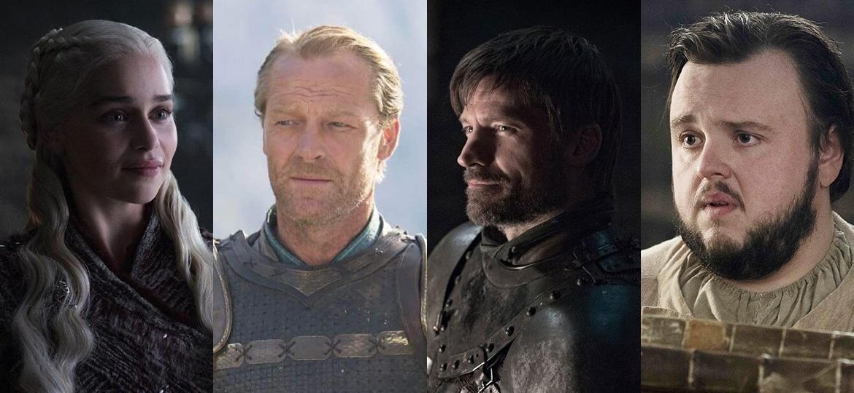 """Emilia Clarke, Iain Glen, Nikolaj Coster Waldau e John Bradley falaram ao UOL sobre seus últimso dias no set de """"Game of Thrones"""" - Divulgação e Montagem/UOL"""