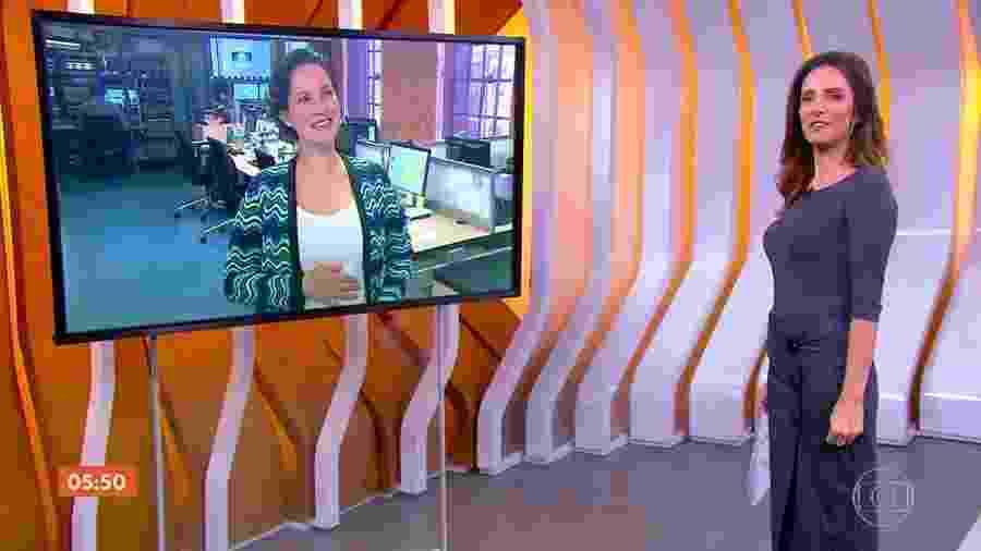 Cecília Malan, correspondente da Globo em Londres, diz que faz meditação durante a gravidez - Reprodução/TV Globo