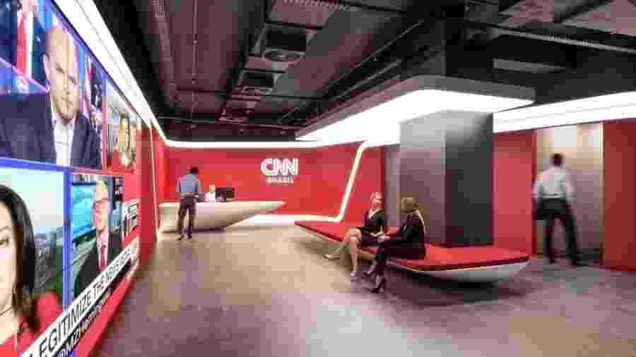 CNN divulga imagens de suas novas instalações - Divulgação/CNN