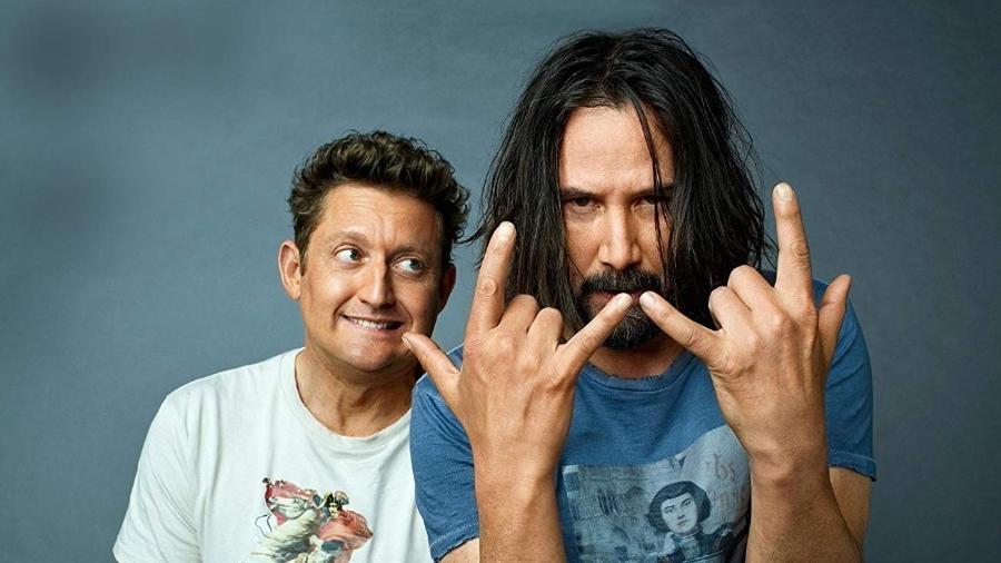 Alex Winter e Keanu Reeves estão de volta em Bill & Teddy 3 - Reprodução