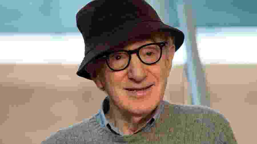 Woody Allen durante apresentação de seu novo filme em San Sebastián, na Espanha - AFP
