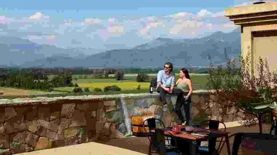 Vista da vinícola Haras de Pirque, no Chile - Diuvlgação
