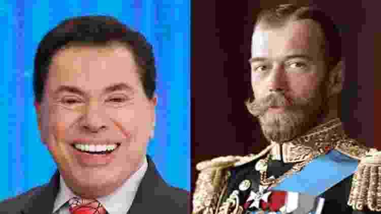 Silvio Santos e o último czar, Nicolau II - Reprodução/Pinterest - Reprodução/Pinterest