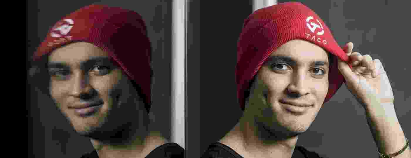 """Epitácio """"TACO"""" de Melo, 24 anos, com o gorro que é sua marca registrada - Keiny Andrade/UOL"""