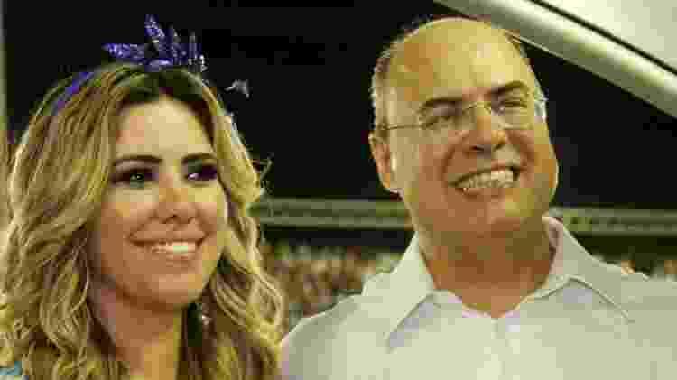O governador do Rio, Wilson Witzel e a esposa Helena Witzel no Camarote Quem - Graça Paes/AgNews - Graça Paes/AgNews