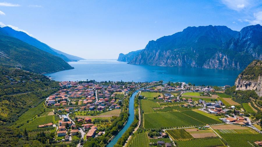 Lago de Garda, em Trentino - Getty Images