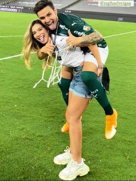Bruna Santana e Raphael Veiga, jogador do Palmeiras - Reprodução/Instagram