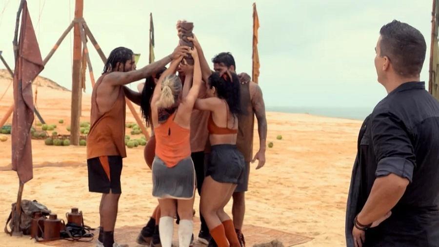 No Limite: Tribo carcará soma quatro vitórias em prova de imunidade - Reprodução/Rede Globo