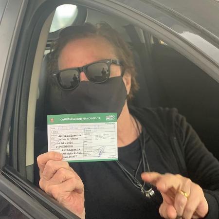 Fábio Jr. é vacinado contra covid-19 - Reprodução/Instagram
