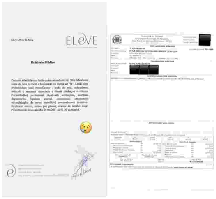 Relatório médico para procedimento cirúrgico de Silvye Alves - Reprodução/Instagram - Reprodução/Instagram