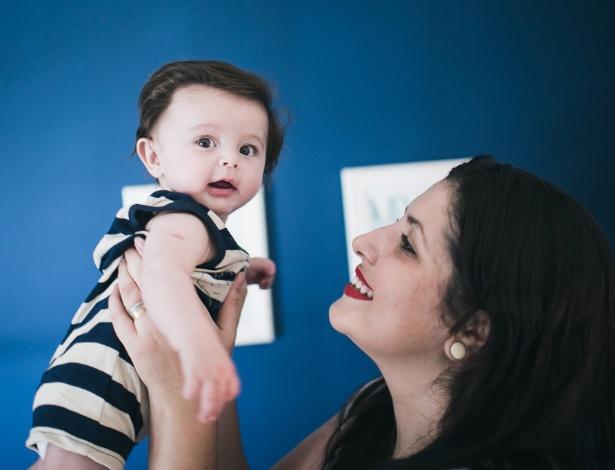 Luciana Passareli, 27 anos, escolheu ter o filho, Théo, por meio de uma cesárea - Arquivo Pessoal