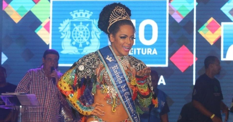 13.nov.2015 - ~Clara Paixão é nomeada pela segunda vez Rainha de Carnaval
