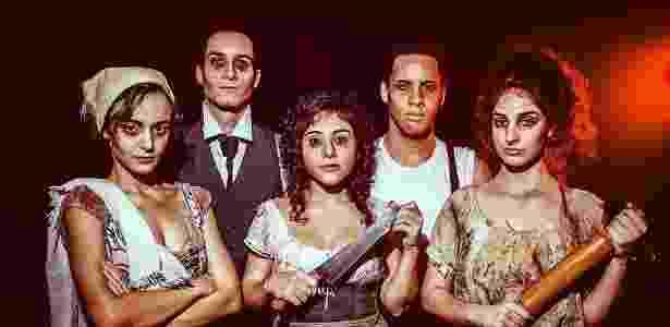"""Elenco do musical """"Sweeney Todd, o barbeiro demônio de Fleet Street"""" - Aloysio Araripe/Divulgação"""