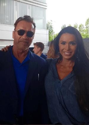 Gracyanne Barbosa se encontrou com Schwarzenegger em Barcelona - Reprodução/Instagram
