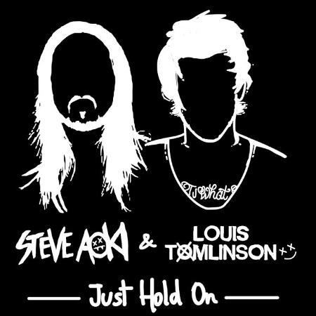 """DJ Steve Aoki e ex-One Direction Louis Tomlinson em """"Just Hold On"""" - Divulgação"""