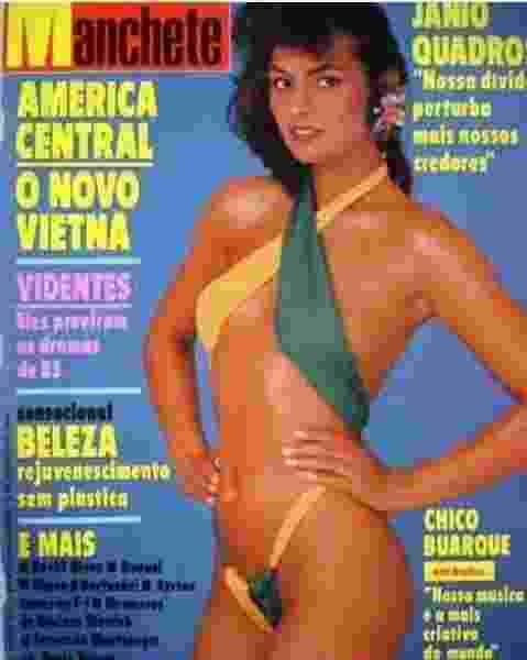 """Luiza Brunet usa maiô asa-delta na capa da revista """"Manchete"""" - Reprodução/ Instagram/ @luizabrunet"""