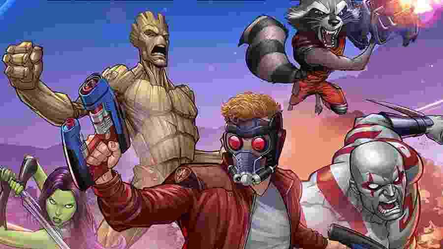 Formação do grupo de heróis intergaláctico já foi bem diferente do quinteto Gamora, Senhor das Estrelas, Groot, Drax e Rocky - Reprodução