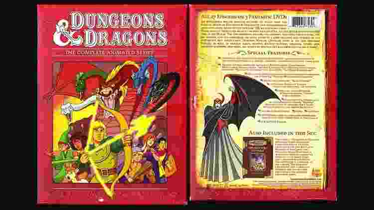 DVD de Caverna do Dragão - Reprodução - Reprodução