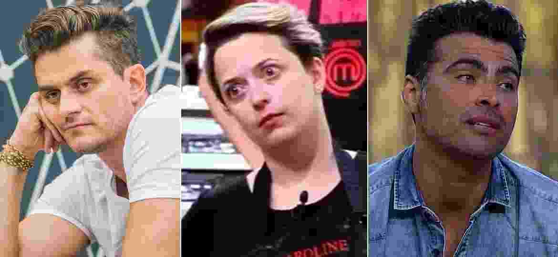 """Marcos Harter (""""BBB17""""), Caroline Martins (""""MasterChef"""") e JP Mantovani (""""A Fazenda"""") já criticaram os realities dos quais participaram - Montagem/UOL"""