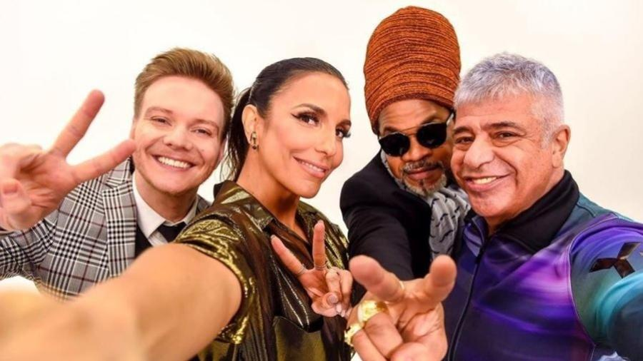 """Michel Teló, Ivete Sangalo, Carlinhos Brown e Lulu Santos continuam como técnicos do """"The Voice Brasil"""" - Reprodução/Instagram/@ivetesangalo"""