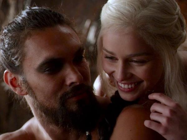 """Os personagens Daenerys e Khal Drogo, de """"Game of Thrones"""""""