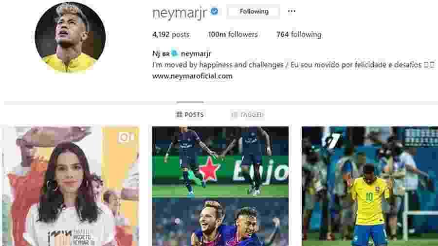 Neymar conquista 100 milhões de seguidores no Instagram  - Reprodução/Instagram