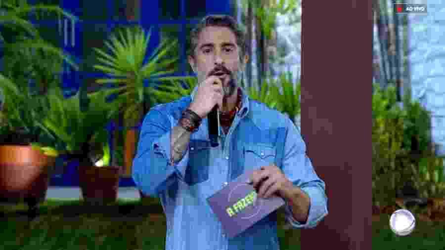 Marcos Mion sofre com problemas no programa ao vivo - Reprodução/RecordTV