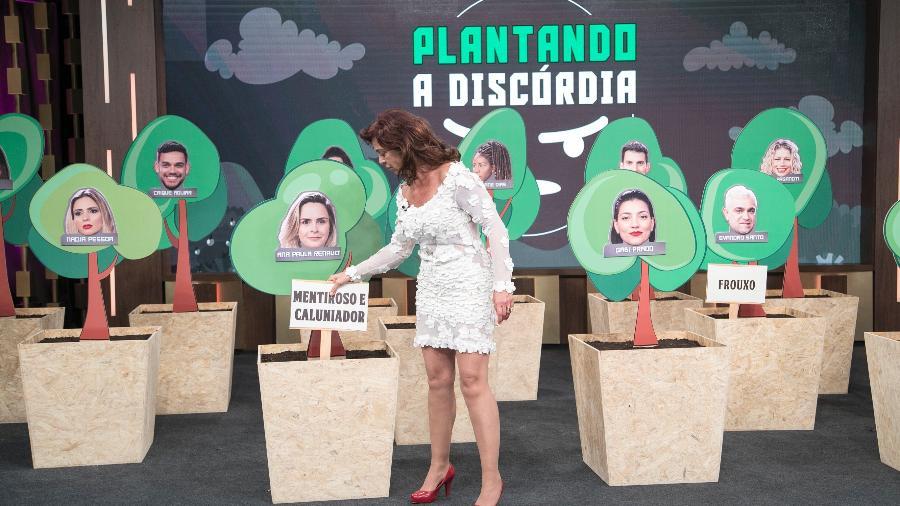 Vida Vlatt participa do Programa do Porchat na RecordTV  - Edu Moraes/Record TV