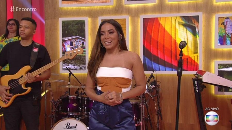 """Anitta no """"Encontro"""" - Reprodução/Globo"""