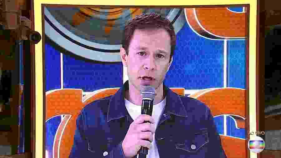 """Tiago Leifert fala com o público do """"BBB19"""" - Reprodução/TvGlobo"""
