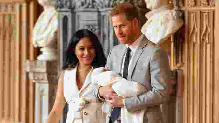 Meghan e Harry com Archie - Dominic LipinskiPool via REUTERS - Dominic LipinskiPool via REUTERS