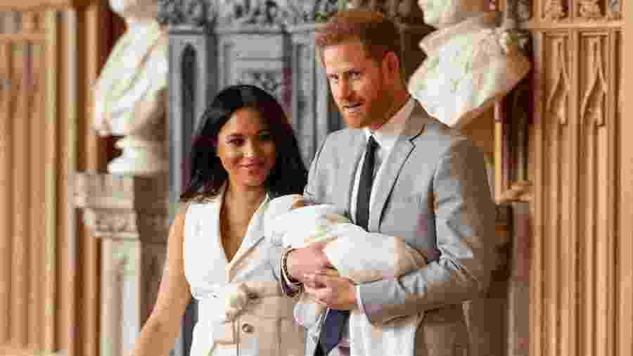 Archie, primeiro filho de Meghan Markle e do príncipe Harry - Dominic LipinskiPool via REUTERS
