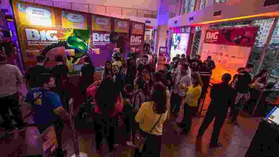 BIG Festival reúne profissionais do mercado e também abre as portas para o público testar games - André Lucas/UOL