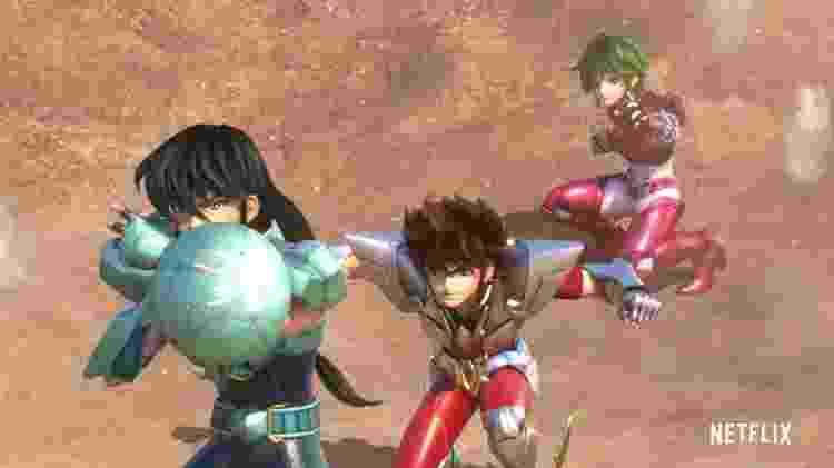 Imagem de Os Cavaleiros do Zodíaco, anime da Netflix - Reprodução/Netflix