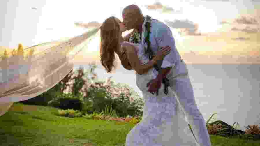 Casamento de Dwayne Johnson com Lauren Hashian - Reprodução/Instagram