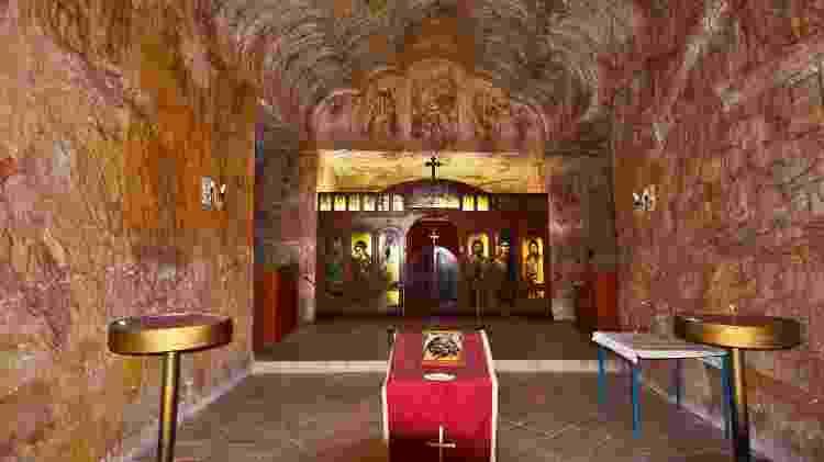 Igreja subterrânea da cidade de Coober Pedy, na Austrália - fotofritz16/Getty Images