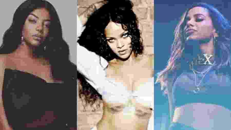 Ludmilla, Rihanna e Anitta - Reprodução/Instagram