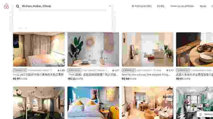 Imóveis em Wuhan ainda aparecem no site da Airbnb  - Reprodução/Airbnb