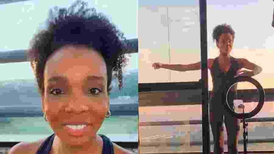 Thelma compartilha aula de balé nas redes sociais - Reprodução/Instagram