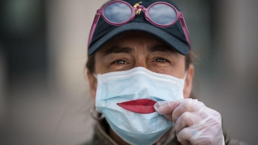 O benefício individual de usar uma máscara é mais incentivo para seu uso - Getty Images
