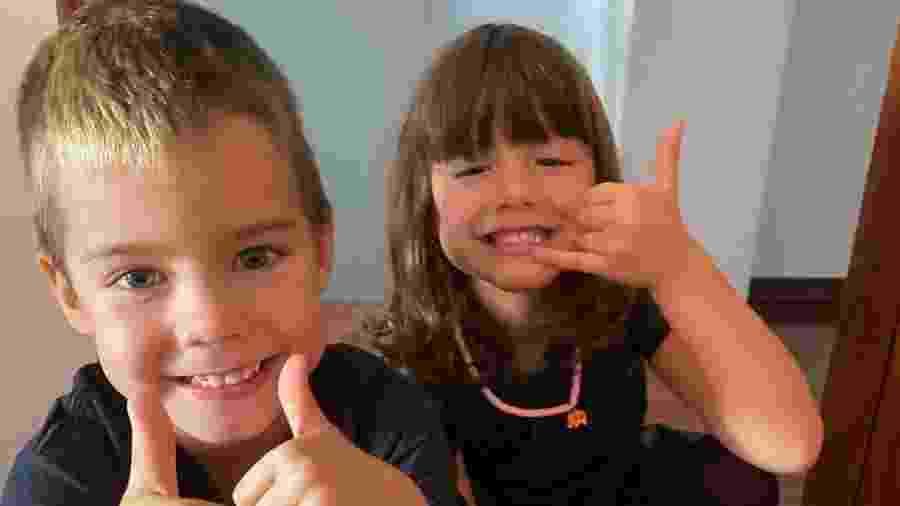 Bem e Liz, filhos de Luana Piovani - Reprodução/Instagram @luapio