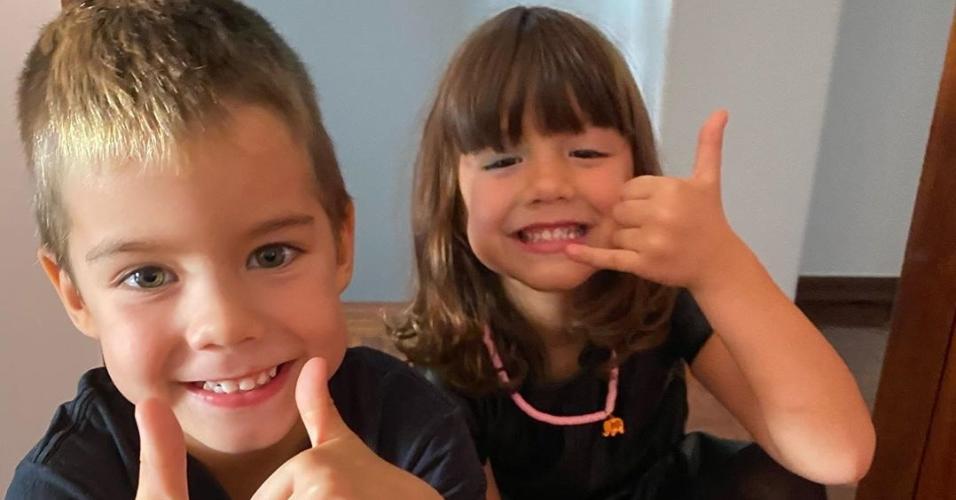Bem e Liz, filhos de Luana Piovani