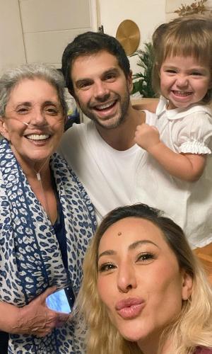 Duda Nagle mostrou foto da família nas redes sociais