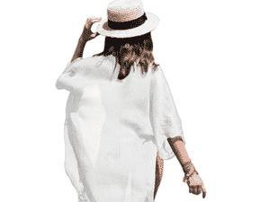 Vestido de praia feminino de chiffon da FOCUSNORM - Divulgação - Divulgação